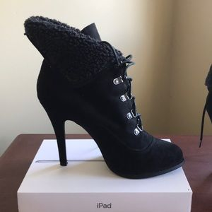 Kardashian Kollection tie up ankle boots